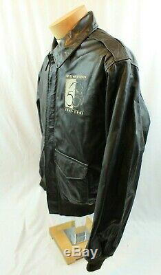 MENS 44 Vtg Avirex A-2 U. S. Army Air Forces Flight Bomber Leather Jacket USA