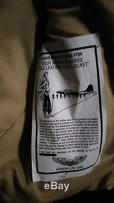 Men Leather RARE Vintage Navy Air Force Army Avirex Bomber Type B-9 Brown Vest