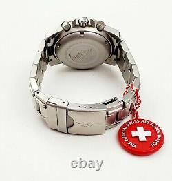 Men's SWISS CHRONOGRAPH AUTOMATIC Watch VICTORINOX SWISS ARMY Air Force in BOX