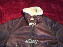 Men's Vintage B3 100% Shearling Army Air Force Bomber Flight Jacket XXL