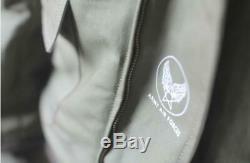 Mens Army Air Force Flight Jacket WWII B10 Military Bomber Fleece Jacket Coats