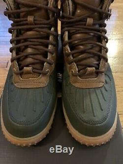 Mens Nike Air Force 1 Duckboot Beach Tree/Light Gum/Dark Army Size 8