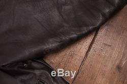 Mens Vintage Avirex A2 US Army Air Forces Lined Flight Jacket Black XL 50 R5461