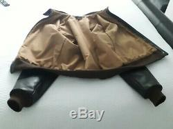 Mens aero leather jacket air forces us army