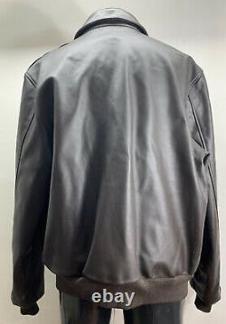 Military A-2 Willis & Geiger Army, Air Force Flight Leather Jacket Mens 46 L