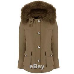 NEU AF AIRFORCE Echtfell Parka Winterjacke 12 152 158 jacket UVP269 army green