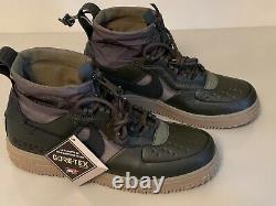 NIKE Air Force 1 Wtr GTX GORE-TEX CQ7211 300 Sequoia/Black/Olive Mountain UK 7