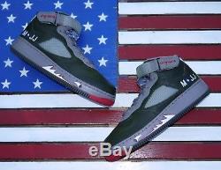 Nike AIR Force 1 JORDAN V AJF 5 Premier Army Green vtg 2008 325330-341 Men 9.5