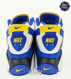 Nike Air Barrage Mid White/Laser Orange/Racer Blue/Black Men's Sz 13 AT7847-100