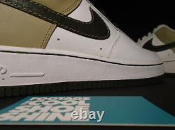 Nike Air Force 1'07 Low WHITE DARK ARMY OLIVE GREEN TWEED BROWN 315122-131 11