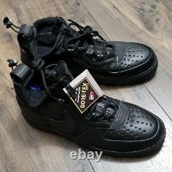 Nike Air Force 1 AF1 CQ7211-003 Mens Size 11.5 Triple Black Gore-Tex New NWT
