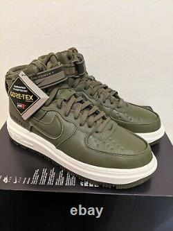 Nike Air Force 1 High GTX Boot Olive CT2815-201 Size 7 Goretex Army Green