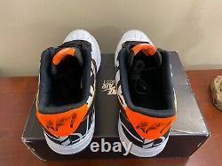 Nike Air Force 1 Low 07 LV8 NBA Hoops White Black Orange 823511-104 Mens SZ 11.5