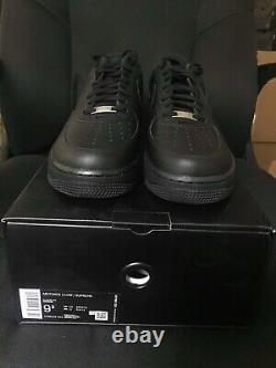 Nike Air Force 1 Low Supreme Black Size 10 DS BRAND NEW