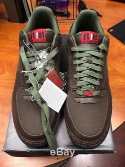 Nike Air Force 1 SUPREME 07 CALVIN NATT BROWN ARMY OLIVE GREEN 315339-211