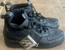 Nike Air Force 1 WTR GTX Winter Gore-Tex Triple Black CQ7211-003 Men's Size 11.5