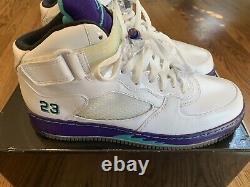 Nike Air Jordan 5 V Retro Air Force 1 AJF 5 Fusion Shoes 2010 White Grape Men 10