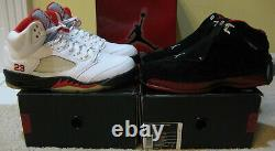 Nike Air Jordan Retro Shoes 5 18 CDP Countdown Pack White Fire Red Black Men 10