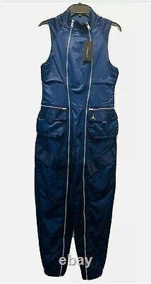 Nike Air Jordan Utility Flight Suit Jumpsuit Womens Small Blue CU6314-414