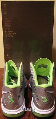 Nike Air Max Lebron 8 VIII P. S Shoes 2011 DunkMan Silver Green Jordan 5 Men 10.5