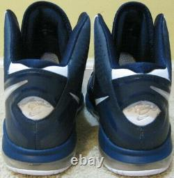Nike Air Max Lebron 8 VIII V/2 Shoes Yankees Navy Blue White Jordan Men 10 10.5