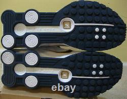 Nike Air Shox R4 Shoes 2009 White Navy Blue Gold TL BB4 Max 90 95 Jordan Men 10