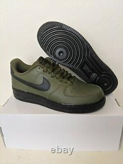 Nike By You ID Air Force 1 Low Mens Shoes Military Green/Black-Orange Size 6