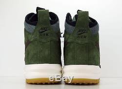 Nike Lunar Air Force 1 Duckboot Baroque Brown Army Olive 805899-200 Msrp $165 Bt