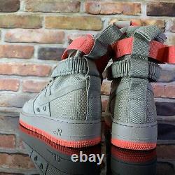 Nike SF AF1 Air Force 1 High Khaki Rush Coral Size 9.5 Men 864024-205
