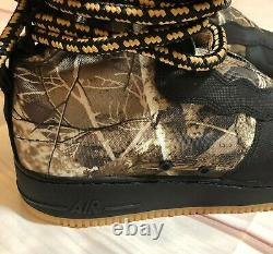 Nike SF Air Force 1 AF1 Realtree Camo Hi Black/Gum Boots AA1128-004 Mens Sz 13