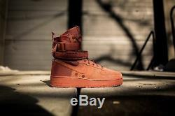 Nike SF Air Force 1 Dusty Peach Exclusive Mens Trainers Boots 864024-204 UK 7.5