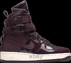 Nike WMNS SF AIR FORCE 1 PREMIUM X RUBY ROSE AJ0963-600'PORT WINE' sz 9.5, 10