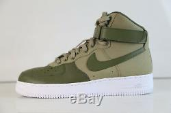 Nike iD Air Force 1 High PRM Boot Leather Army Green Sz 10 af1 premium