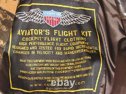 Nwt Cockpit USA A-2 Leather Pilot's Jacket! Brown! Wwii Army-air Force Aviator L