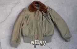 Old WW2 era USAAF Army Air Forces Pilot's Flight Jacket Type B-5A size 38 USED