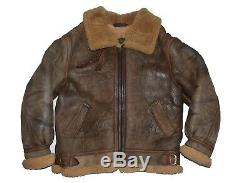 Orchard Army Air Force Branded B-3 Shearling Sheepskin Leather Bomber Jacket