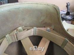 Original Complete WWII USAAF Bomber Crew M3 Steel Flak Helmet US Army Air Force
