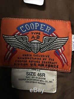 Original Cooper A-2 Leather Flight Jacket With 8th Army Airforce Patch