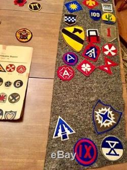 Original US WW 2 Army Air Force Huge Lot of Military Insignia Lt. Colonel