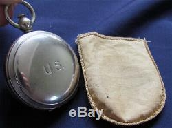 Original US WW2 AAF Army Air Forces Pocket Compass with Pouch by Wittnauer MINT