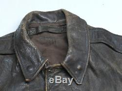 Original WWII Pilot's A-2 Leather Flight Jacket USAAF US Army Air Forces