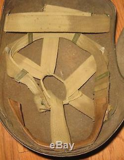 Original WWII U. S. ARMY AIR FORCE M5 FLAK HELMET WW2 USAAF USAF Rare Vintage