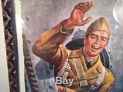Original World War II War Bonds Advertisement Army Navy Air Force Marine Corps