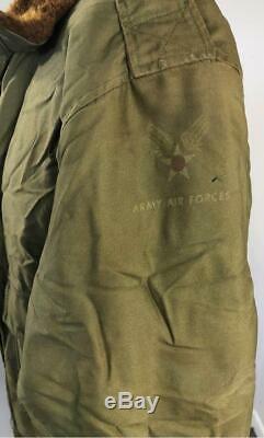 Original Wwii Army Air Forces Military Type B-10 Flight Jacket Sz 38