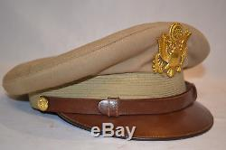 Original Wwii Us Army Air Force Officer's Crusher Summer Visor Cap Hat Ww2 USA