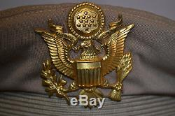 Original Wwii Us Army Air Force Officer's Crusher Summer Visor Cap Hat Ww2 Usaf