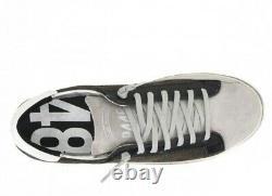 P448 Men's John Army Grif Leather Low-Top Italian Sneaker Sz 8 Sold Out F9 John