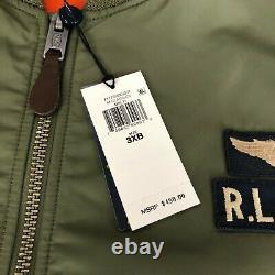 Polo Ralph Lauren MA-1 Military Army US Air Force Flight Bomber Jacket Men's 3XL