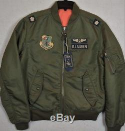 Polo Ralph Lauren MA-1 Military Army US Air Force Flight Bomber Pilot Jacket S