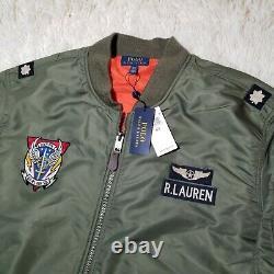 Polo Ralph Lauren MA-1 Military Bomber Army US Air Force Flight Pilot Jacket 3XL